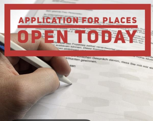 Applications Open Today and Close on Oct 22nd!